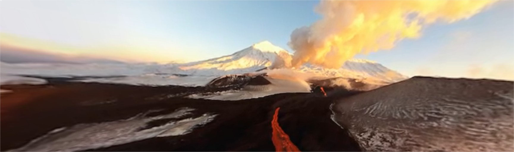 Vulkan Plosky Tolbachik, Kamtschatka - Google Chrome
